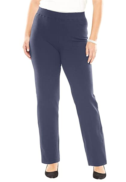 c593aed08ab Jessica London Women s Plus Size Pull-On Ponte Pants - Navy