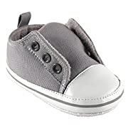 Luvable Friends Laceless Sneaker (Infant), Gray, 0-6 Months M US Infant