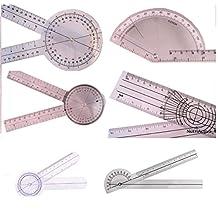 """AnthroFlex Goniometer Set of 6: 12"""", 8"""", 6"""", 180, Finger, Spinal"""