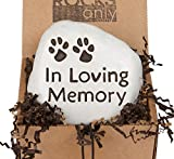 """In Loving Memory"" – (Paw Prints) Engraved in a Heavy little Rock"
