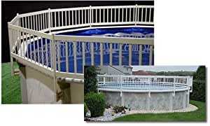 Blue Wave Above Ground Ovale Ground 3Pk Fence Add-On Kit Resin