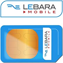 3G LEBARA Pay As You Go International Sim Card - Unlimited Calls Texts & Data For Iphone 3G, 3GS, 4, 4S, 5 5S, 5C, 6, 6S, 6+ - NOKIA - Samsung Galaxy 1,2,3,4,5,6 - MOBILES DIRECTS COMMUNICATIONS LTD by LEBARA