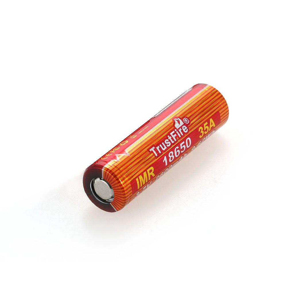 Lixada IMR 18650 Batterie 2600mAh 3.7V 40A batterie Li-ion Rechargeable à Haut Débit pour Lampe de Poche LED