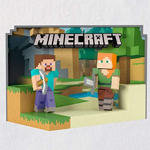 (Hallmark Keepsake Christmas Ornament 2018 Year Dated, Minecraft Steve and Alex)