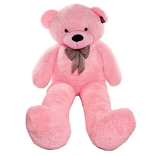 Joyfay Giant Pink Teddy Bear-Huge 7 Foot (91 Inches) Pink Stuffed Animal, Cuddly Gift and a Furry Friend for your Son or Daughter]()