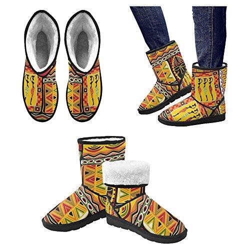 InterestPrint Womens Snow Boots Unique Designed Comfort Winter Boots Multi 26 WPVZXE1O