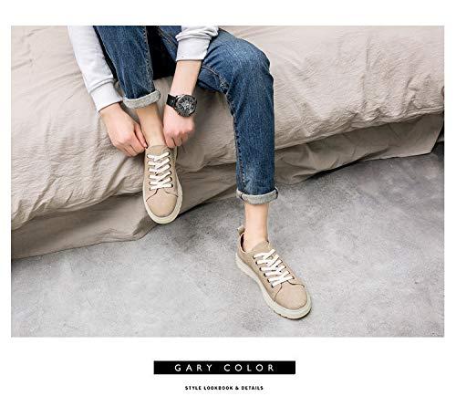 LXJL Spring Fashion Low-Held-Herrenschuhe, koreanische koreanische koreanische Version der Männer atmungsaktiven Riemen lässige Plattenschuhe flachen Schuh,a,41 9aa7aa