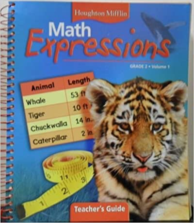 Math Worksheets houghton mifflin math worksheets grade 5 : Amazon.com: Houghton Mifflin Math Expressions Grade 2, Volume 1 ...