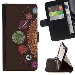 Momo Phone Case / Flip Funda de Cuero Case Cover - Cosmos Sistema Solar De Punto - LG OPTIMUS L90