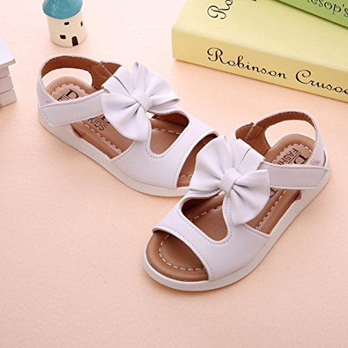 Jamicy® Kinder Sandalen, Prinzessin Baby Mädchen Sommer Mode Bowknot Flachen Sandalen Schuhe Weiß