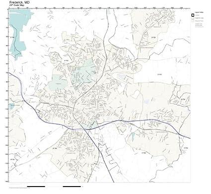 Frederick County Md Zip Code Map.Amazon Com Zip Code Wall Map Of Frederick Md Zip Code Map
