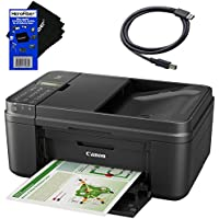 Canon all in one wireless printer, Inkjet PIXMA MX492 (Black) with Print, Copy, Scan, Fax & Google Cloud Print Compatible + USB Printer Cable + HeroFiber Cleaning Cloth