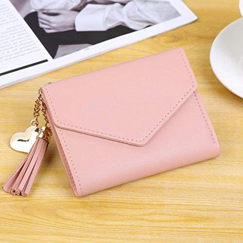 Gimax Coin Purses Color: Red Women Lady Wallets Purse Storage Bag Tassel Zipper PU Mini for Coin Money Cards New