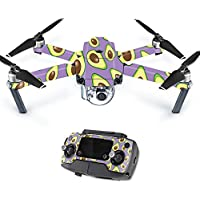 MightySkins Protective Vinyl Skin Decal for DJI Mavic Pro Quadcopter Drone wrap cover sticker skins Purple Avocados