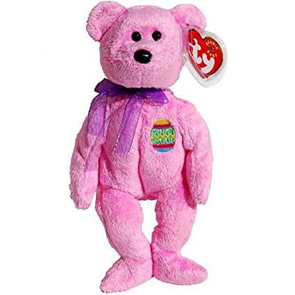 204f618ef34 Image Unavailable. Image not available for. Color  Ty Beanie Babies - Eggs  the Pink Easter Teddy Bear