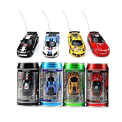 Color Random) Us Coke Can Mini Rc Radio Remote Control Speed Micro Racing Car Vehicle Toy Gift: Toys & Games