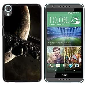 Be Good Phone Accessory // Dura Cáscara cubierta Protectora Caso Carcasa Funda de Protección para HTC Desire 820 // Asteoid Belt Moon Saturn Alien Planet Universe