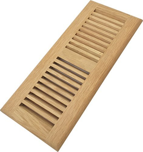 Homewell Red Oak Wood Floor Register Vent, Drop in Vent, 4x12 Inch, Unfinished