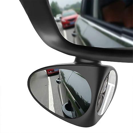 Teamwin Auto Toter Winkel Spiegel Auto Blind Autozubehör Beweglicher Spiegel 2 Stück Für Den Blindspot Bei Anhänger Und Wohnwagen Schwarz Auto