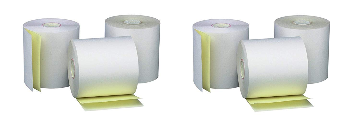 PM Company Perfection Two Ply Carbonless Rolls, 3 X 95 Feet, White/Canary, 50 Rolls Per Carton (07901) (2 X Pack of 50)