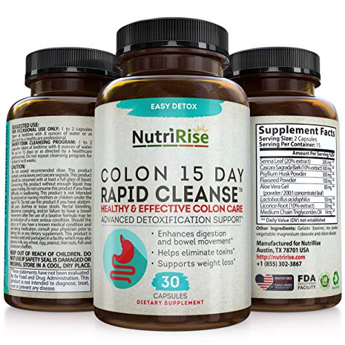 Colon Cleanser Detox for Weight Loss. 15 Day Fast-Acting Extra-Strength Cleanse with Probiotic & Natural Laxatives for…