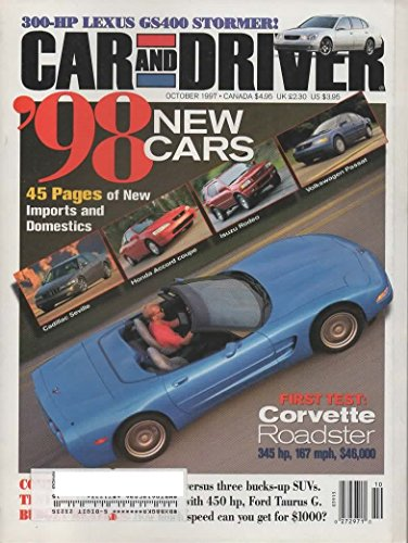 CAR AND DRIVER MAGAZINE OCTOBER 1997 [Paperback]