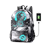 Best GENERIC City Backpacks - Anime Luminous Backpack Noctilucent School Bags Daypack USB Review