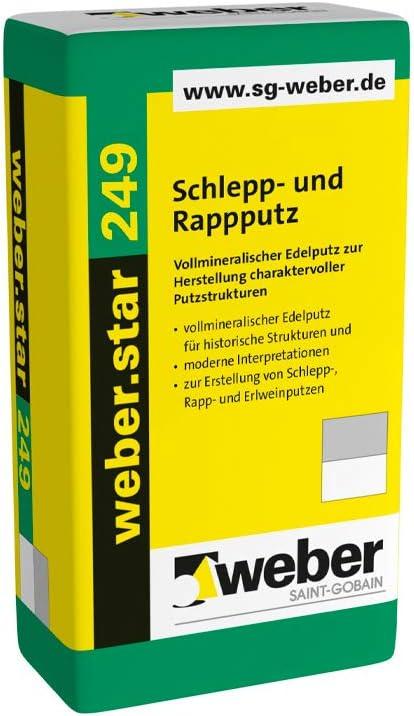 und Rappputz 30 kg Schleppputz Putz Oberputz Scheibenputz Reibeputz Weber 5 mm weber.star 249 Schlepp