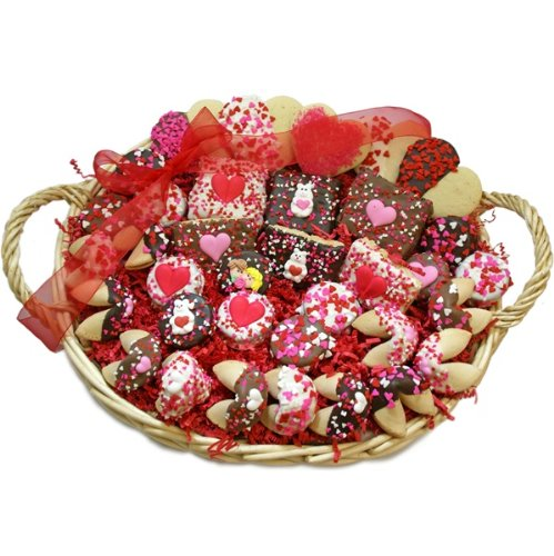 Sweetheart Edition Valentine Gourmet Gift Basket by The Gift Basket Gallery