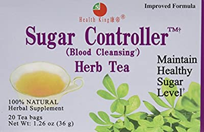 Health King Medicinal Tea, Sugar Controller, 3/20 Bag
