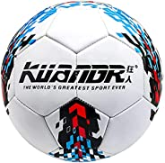 Senston Soccer Official Size 5, Indoor Outdoor Training Soccer Balls for Kids Youth