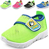 DADAWEN Baby's Boy's Girl's Breathable Mesh Running Sneakers Sandals Water Shoe Green US Size 7 M Toddler