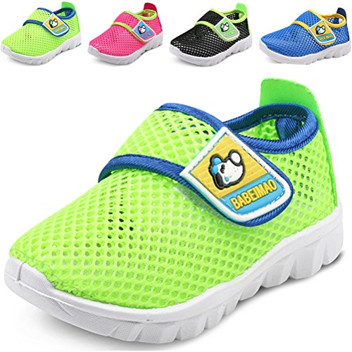 DADAWEN Baby's Boy's Girl's Breathable Mesh Running Sneakers Sandals Water Shoe Green US Size 8 M Toddler