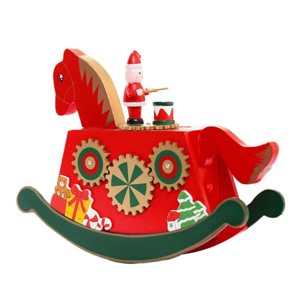 Bloomma Madera carrusel música caja niños niños niñas Navidad regalo cumpleaños boda decoración