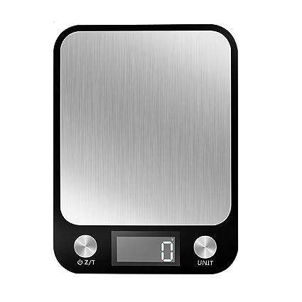 LF Stores Cocina de hogar Precisión Acero Inoxidable Balanzas electrónicas Alimentos para Hornear Escalas 10 kg