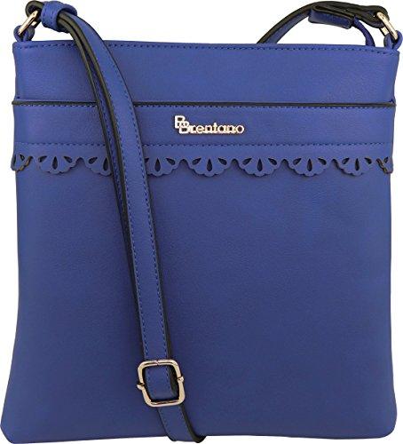 - B BRENTANO Vegan Medium Crossbody Handbag Purse (Royal Blue.)