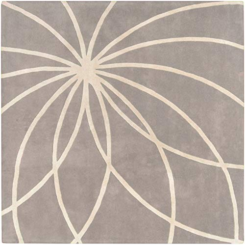 Surya Forum FM-7184 Contemporary Hand Tufted 100% Wool Bay Leaf 4' Square Abstract Area Rug ()