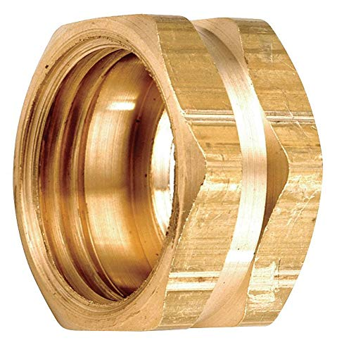 Low Lead Brass Hex Nut, 3/4' FGH Connection - pack of 5
