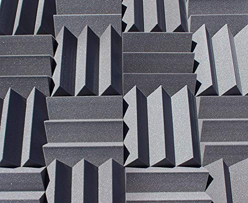 (Bulk Acoustic Foam Panels For Studio Soundproofing And Sound Dampening, 48 sq ft packs available in 1 inch 2 inch 3 inch and 4 inch Wedge Style Tiles (4 inch) )