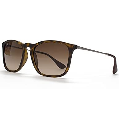 cf3937c6f8 Ray-Ban Chris Square Sunglasses in Havana Rubber - RB4187 856 13 54 RB4187  856 13 54  Amazon.co.uk  Clothing