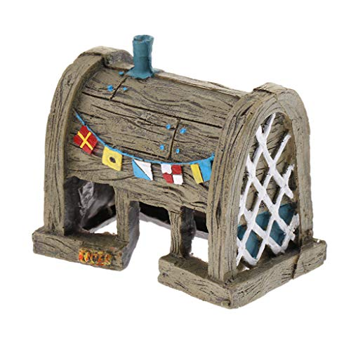 Fityle Tanque De Peces De Acuario Resina Casa De Dibujos Animados Ornamento De La Casa Decoración Del Tanque De Peces