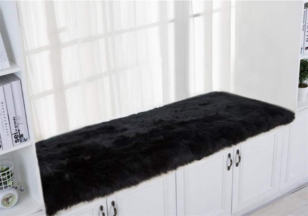 DM&XJ Plush Thickened Window seat Cushions Indoor,Solid Color Bay Window Cushion,Non-Slip Window sill pad,Floor mat for Bedroom Balcony-I 60x120cm(24x47inch)