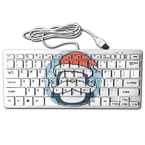 Mustache Penguin 78 Keys Wired USB Mini Slim Keyboard For Pc Computer - Keyboard Mustache
