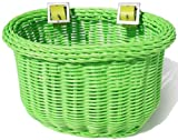 Colorbasket Kid's Front Handlebar Bike Basket,Green