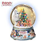 Collectible Rudolph The Red Nosed Reindeer Snowglobe: Magical Christmas Eve by The Bradford Exchange