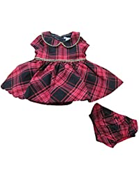 Woven Dress & Panty Set Size 3-6 Months Red/Plaid