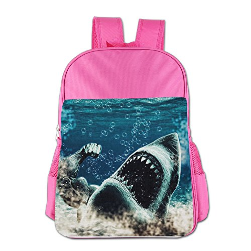Shark Roaring Waterproof Kids Backpack School Bookbag For Primary Unisex Students (Book Cruise Flight)