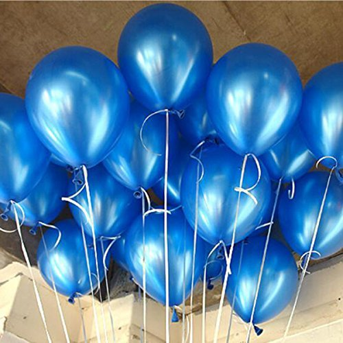 latex balloons blue - 8