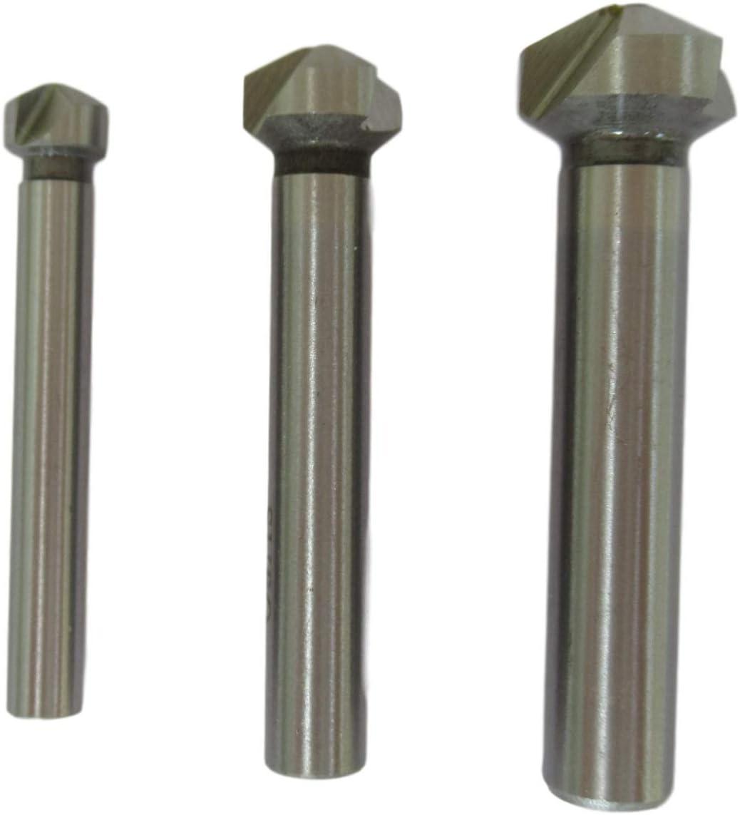 HSS6542 Kegelsenker 120/° 8,3//12,4//16,5mm f/ür Industrie /& Handwerk HSS6542 120/° 3tlg