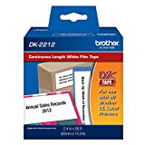 Brother DK-2212 Continuous Length Film Label Roll (2-3/7'' Wide) - Retail Packaging